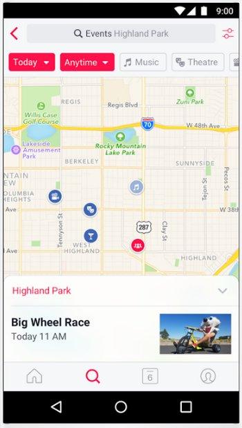 Facebook Eventos Android