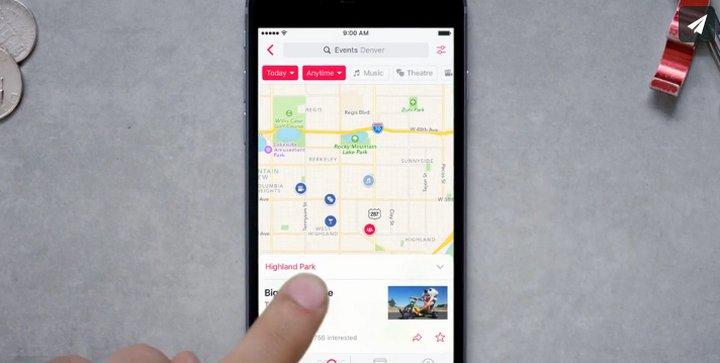Facebook lanza su aplicación de Eventos para terminales Android