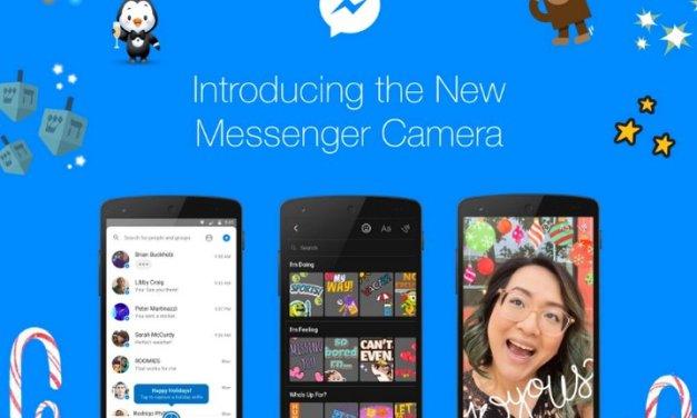 Facebook Messenger introduce nueva cámara que permite agregar stickers, filtros, dibujar y más