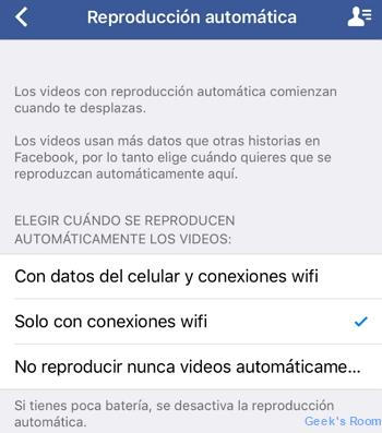 Facebook iOS - Consumo de Data
