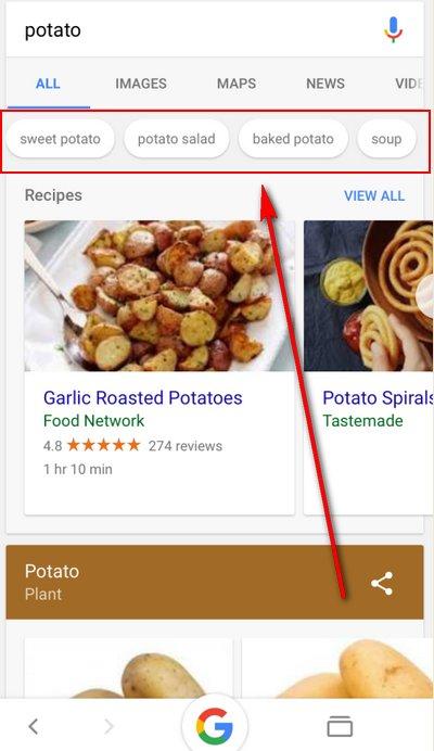 Buscador de Google en Móviles