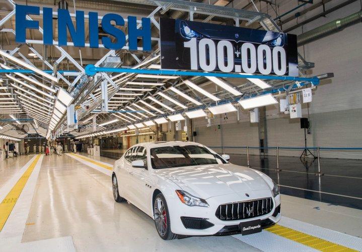 La planta AGAP de Maserati acaba de fabricar su auto número 100.000, un Quattroporte GranSport MY17