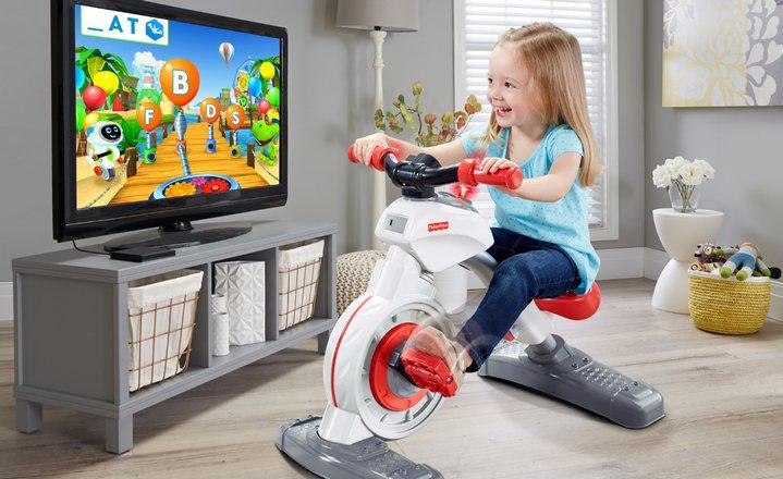 Fisher-Price Think & Learn Smart Cycle, bicicleta estacionaria para niños con stand para tabletas #CES2017