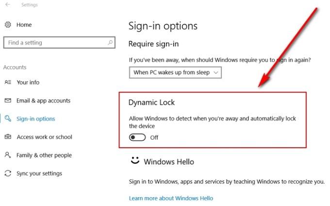 Windows 10 Bloqueo Dinámico - Dynamic Lock