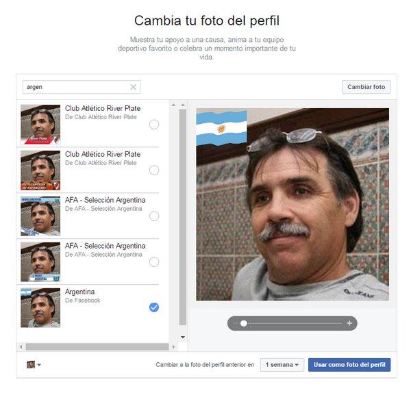 Facebook - Banderas en Foto de Perfil