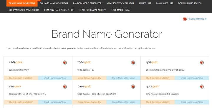 Name4Brands - Generador de Nombre de Dominio