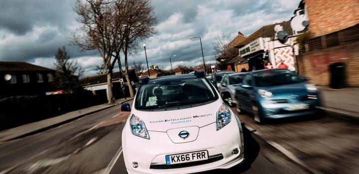 Nissan LEAF autónomo en Londres