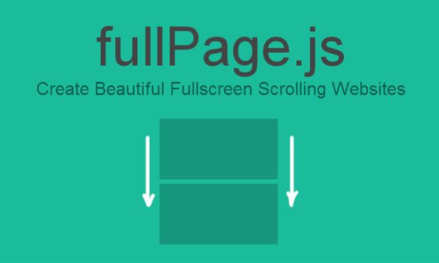fullPage.js para crear sitios web de una sola página, ahora con documentación y soporte en español