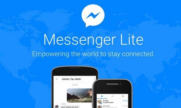 Facebook Messenger Lite ahora disponible en 150 nuevos países