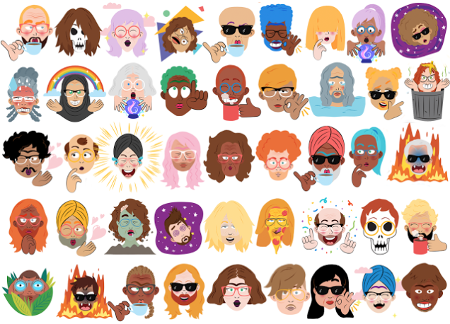 Google Allo - Selfie Stickers
