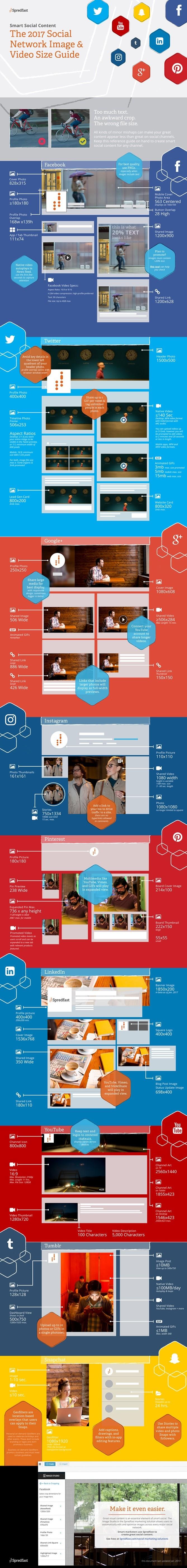 Guía Actualizada de Dimensiones de Imágenes y Vídeos para Social Media 2017