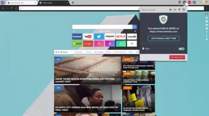 UR Browser - Modo Ninja