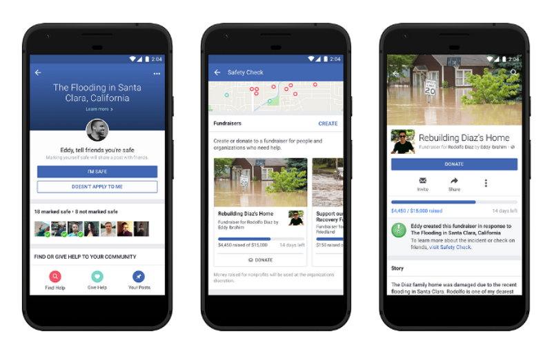 Facebook - Comprobación del Estado de Seguridad - Recaudación de Fondos