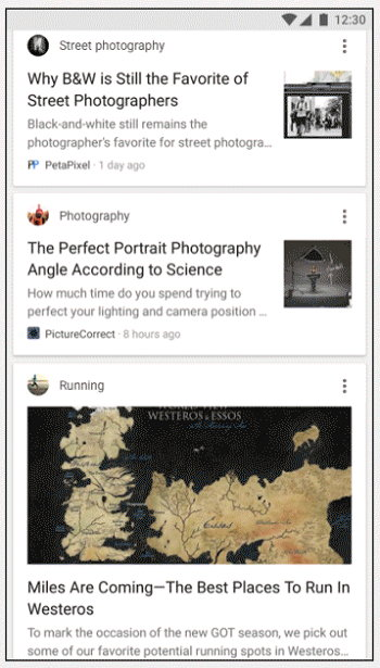 Google App Feed