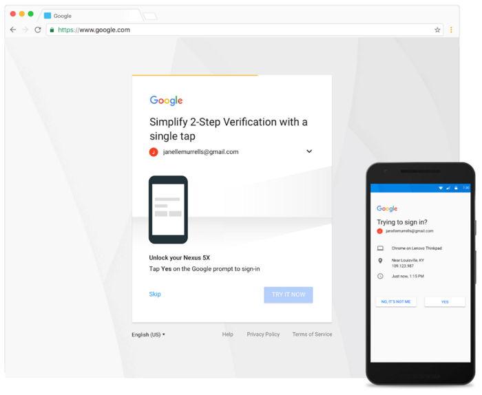 Google Verificación de Dos Factores