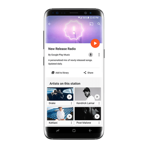 Google Play Music - New Release Radio