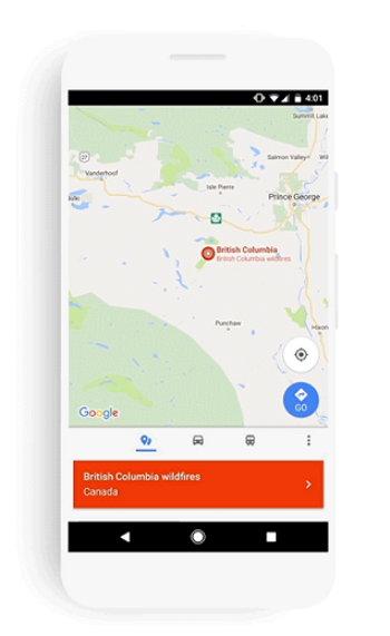 Google Maps - SOS Alerts