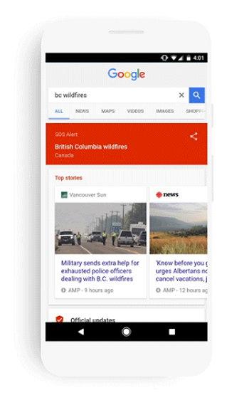 Google - SOS Alerts