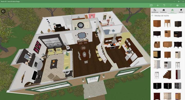 Crea bonitos dise os interiores y exteriores de casas con planner 5d - App diseno casas ...