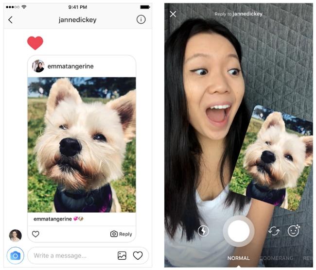 Instagram Direct - Respuestas con Fotos y Vídeos