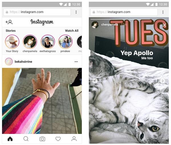 Historias de Instagram