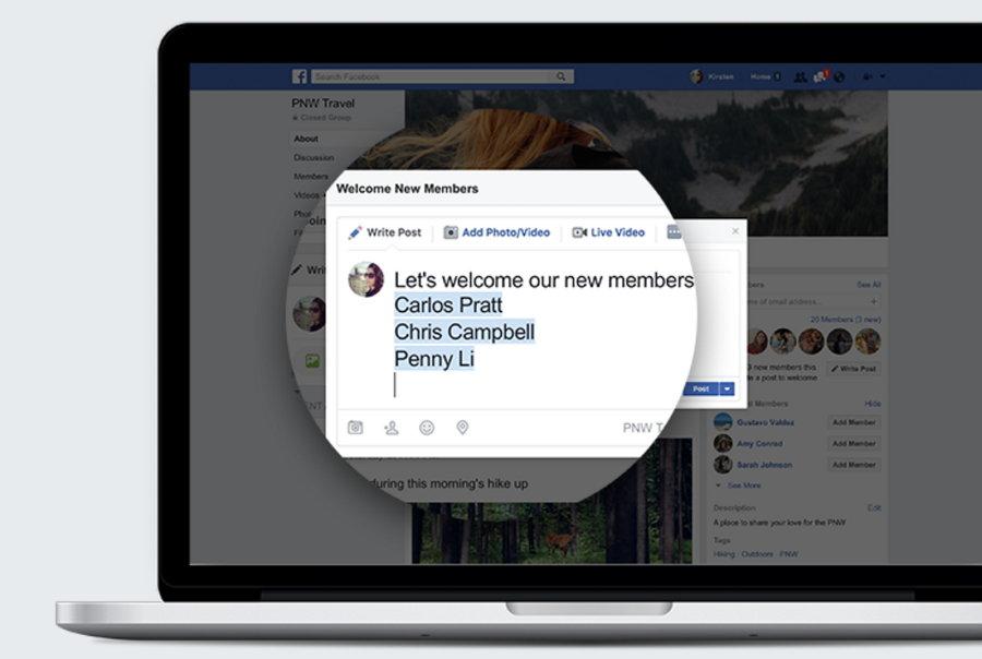 Grupos de Facebook - Mensajes de Bienvenida