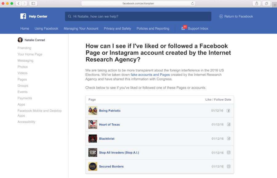 Facebook - Herramienta Propaganda Rusa