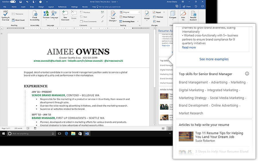 LinkedIn lanza Resume Assistant, herramienta integrada a Word para ...