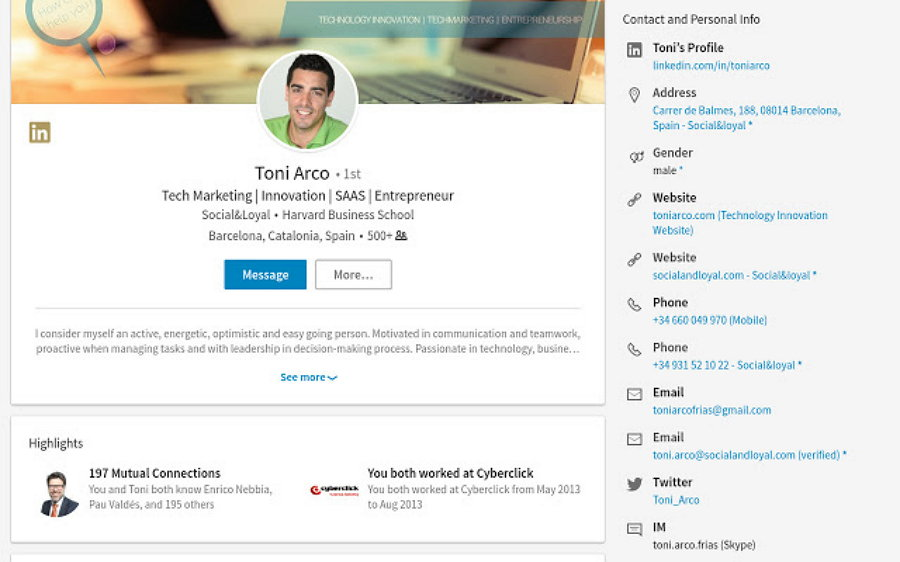Uproc para LinkedIn