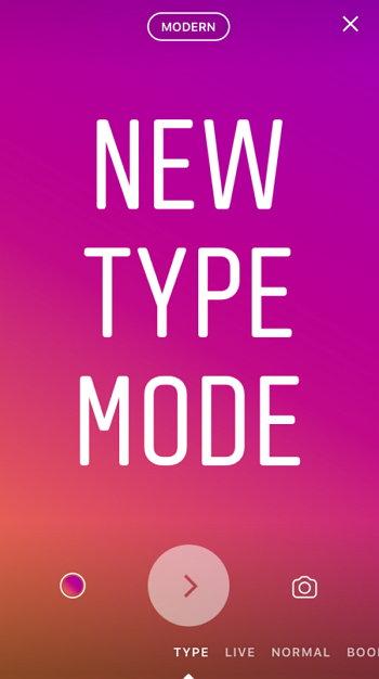 Instagram - Historias - Type - Texto