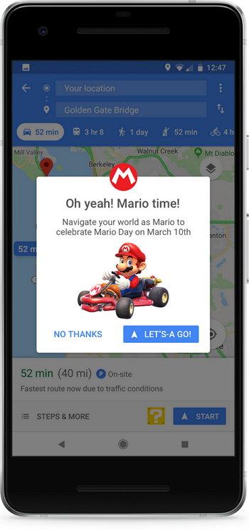 Google Maps - Super Mario Kart