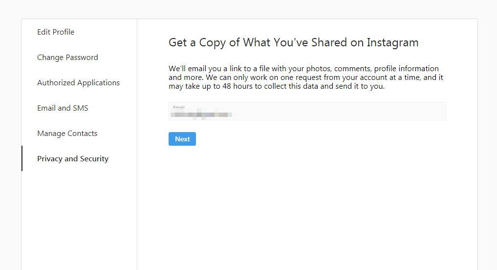 Cómo descargar todo tu contenido en Instagram