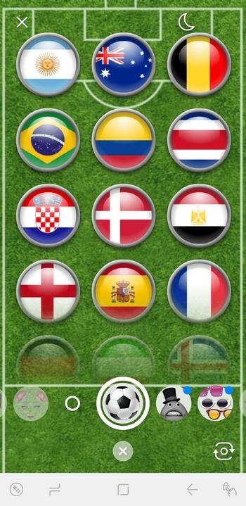 Facebook Messenger - Filtros del Mundial de Fútbol
