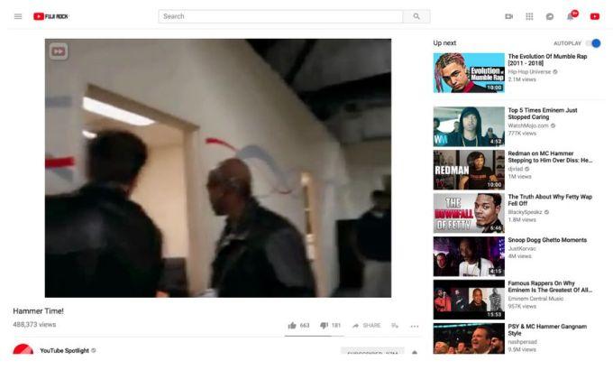 Youtube vídeo 4:3 ahora
