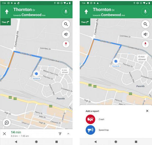 Google Maps está probando una característica de Waze, reportes de incidentes