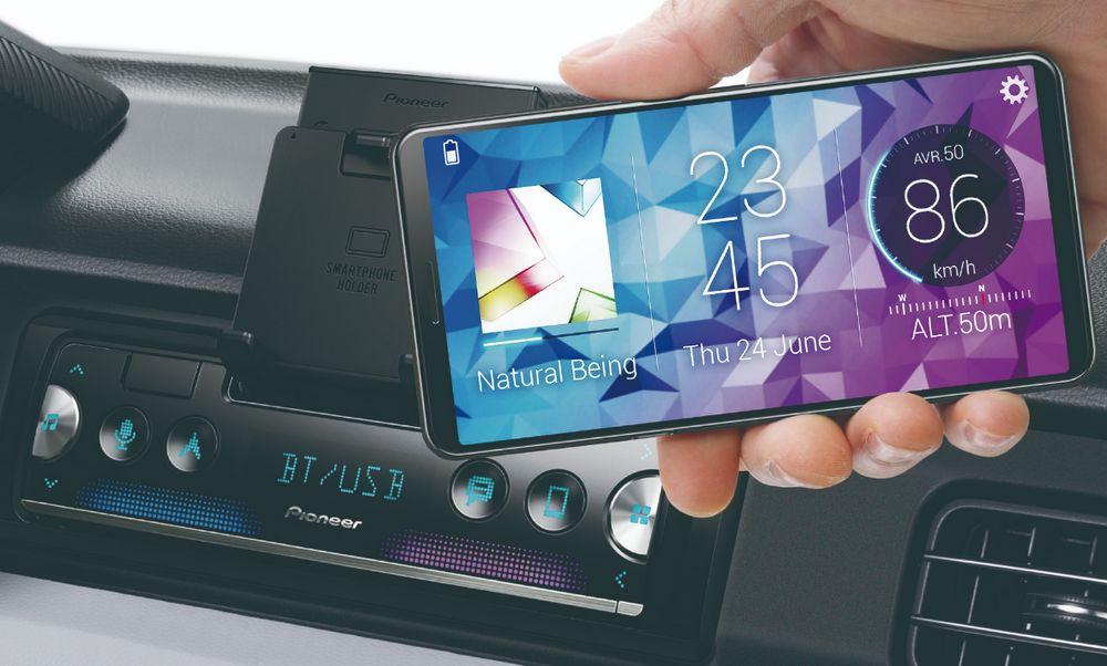 pioneer sph 10bt transforma tu smartphone en una pantalla de info entretenimiento para tu. Black Bedroom Furniture Sets. Home Design Ideas