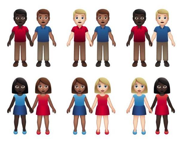 Emojis Pareja Interracial