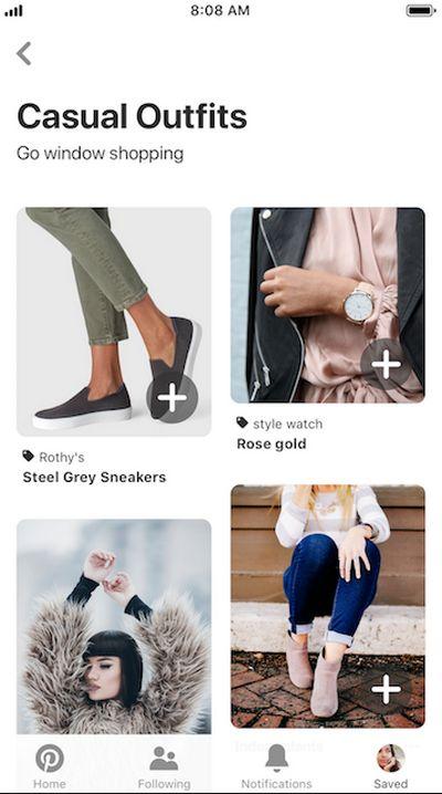 Pinterest - Recomendaciones de Compras