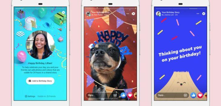 Historias de Cumpleaños - Facebook