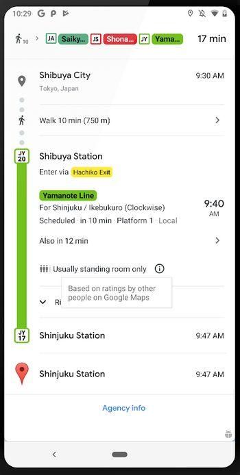 Google Maps - Autobús lleno
