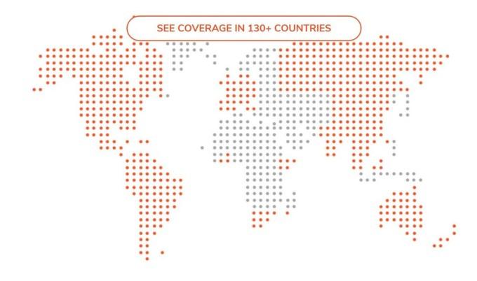BLU G9 con SIMO - Skyroam Cobertura en 130 Países