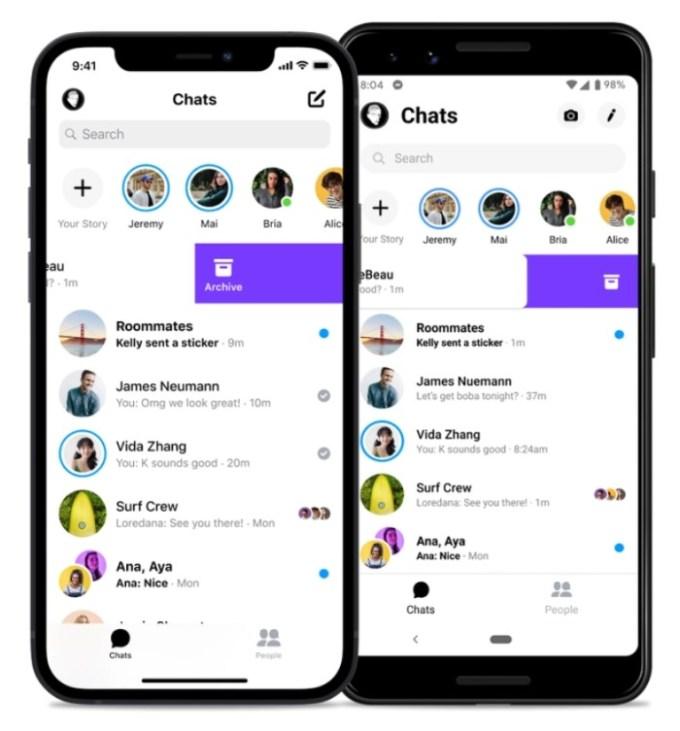 Messenger - Deslizar para Archivar
