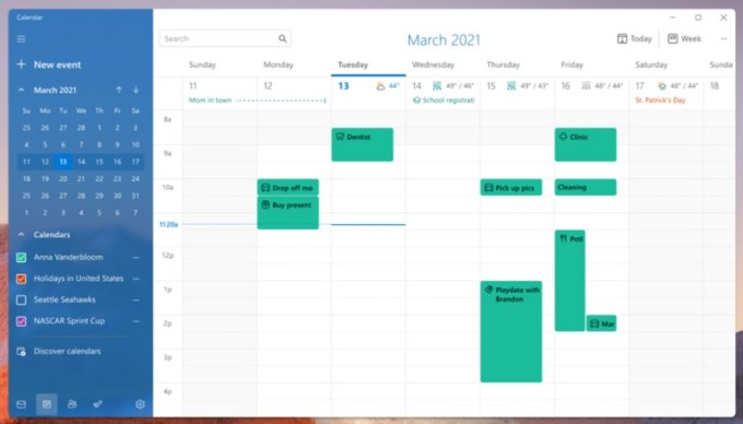 Mail and Calendar - Windows 11
