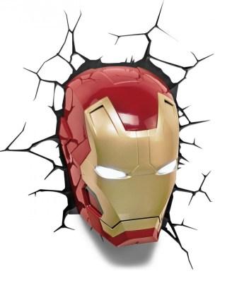 Marvel Comics 3D LED világítás - Vasember Maszk