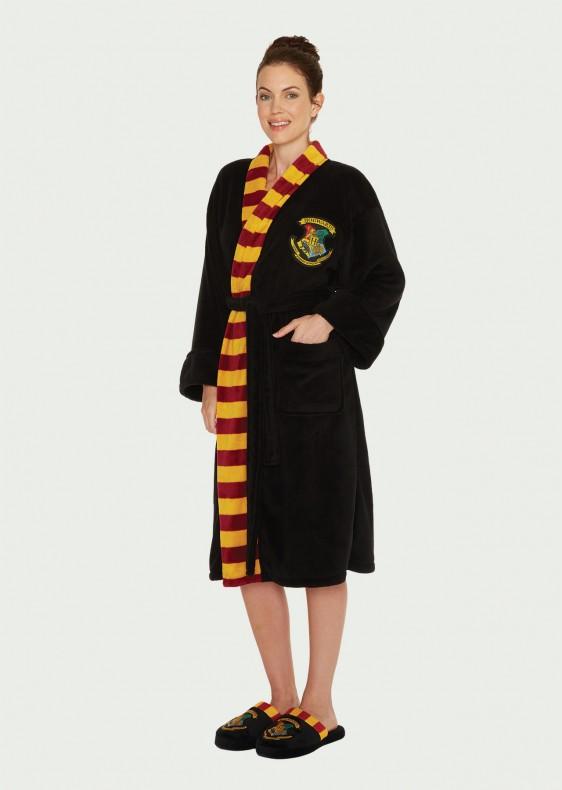 Hogwarts_Womens_Bathrobe_Front_Harry Potter köntös - Hogwarts (Roxfort) női