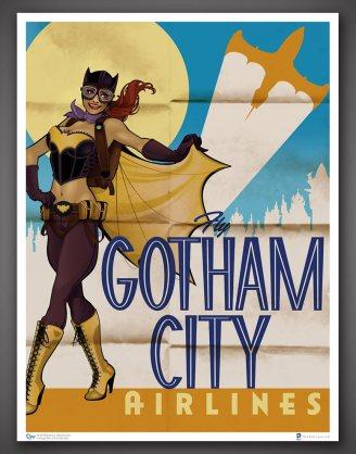 x_dcc-0105 DC Comics Bombshells Art Print Batgirl 46 x 61 cm