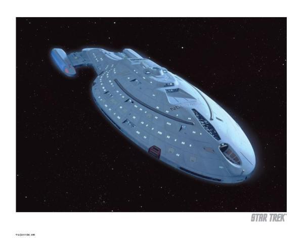 x_igp-st4003 Star Trek Art Print Voyager 35 x 28 cm