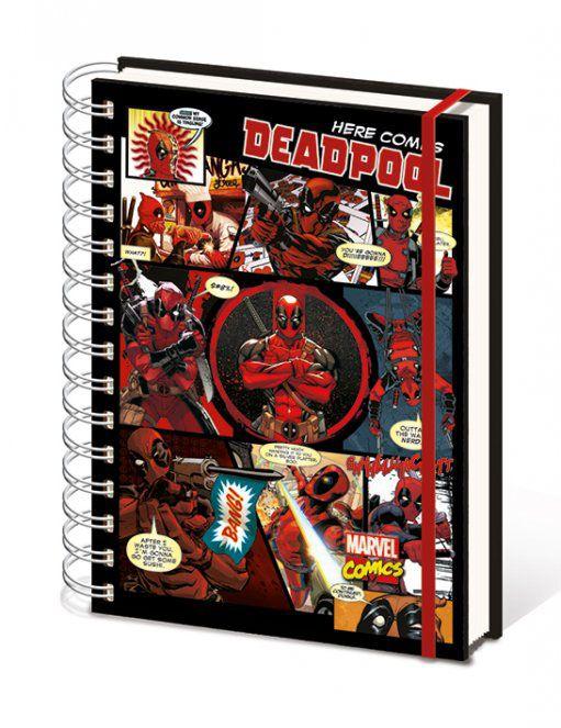 x_sr72146 Marvel Comics Notebook A5 Deadpool