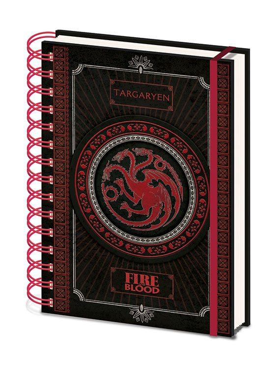 x_sr72502 Game of Thrones Wiro Notebook A5 Targaryen