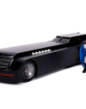 x_jada30916 Batman Animated Series Metals Diecast Model 1/24 Batmobile with figure